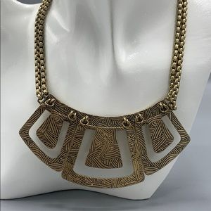 Greek style plaque necklace.  Adjustable